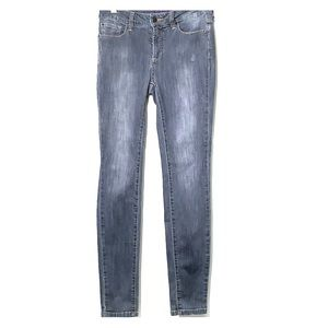 NYDJ • Grey Super Skinny Distressed Denim Jeans